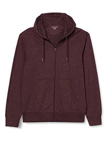 Amazon Essentials Lightweight Jersey Full-Zip Hoodie Fashion, Burgundy, US XXL (EU XXXL-4XL)