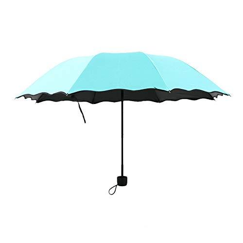 Caucho Negro Sunumbrella Paraguas Plegable Paraguas Sombrilla Sunshine,Lago Verde