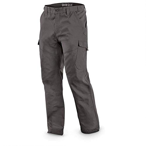 Guide Gear Ripstop Work Cargo Pants for Men in Cotton, Big and Tall Tactical Pants for Construction, Utility, and Safety, Graphite Gray, W38 L29