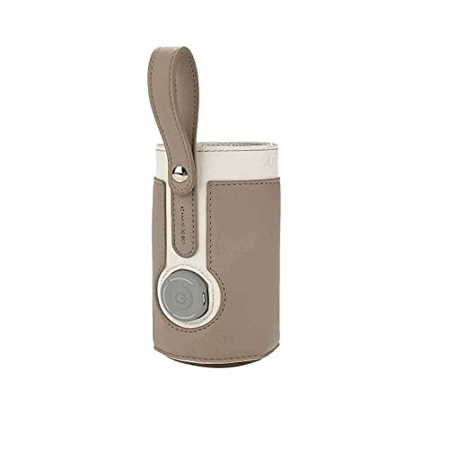 Wood.L Calentador De Biberón De Viaje, Calentador De Biberón USB, Funda Aislante De Biberón para Interiores, Exteriores, Viajes, Conducción, Carga USB, Múltiples Colores