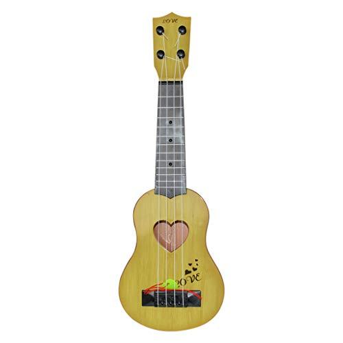 Ukulélé Jouet pour Enfants, Débutant Classique Ukulélé Guitare Jouet Éducatif Instrument Instrument de Musique Jouet, 4 Cordes Guitare Ukulélé Xylophone Jouets pour Cadeau D anniversaire De Noël (B)
