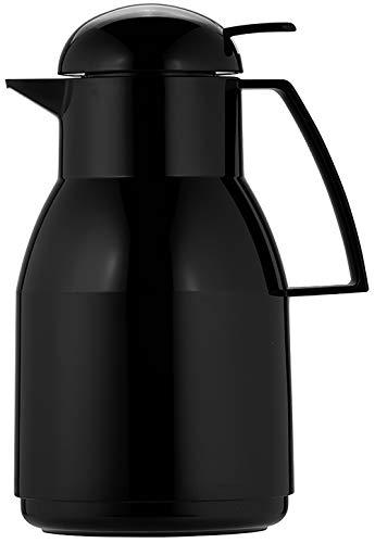 Helios Top Push Kunststoff-Isolierkanne, schwarz, 1 Liter