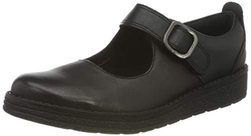 Clarks Girls' Mendipbrite K Uniform Dress Shoe, Black, 10.5 UK