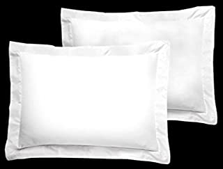 The Great American Store Black Friday & Cyber Monday Deals White Solid Pillow Shams Set of 2 - Luxury 300 Thread Count 100% Egyptian Cotton (2 Pack, Boudoir 12 x 16)