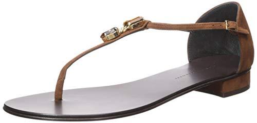 Giuseppe Zanotti Women's I900014 Flat Sandal, Brunette, 8.5 B US