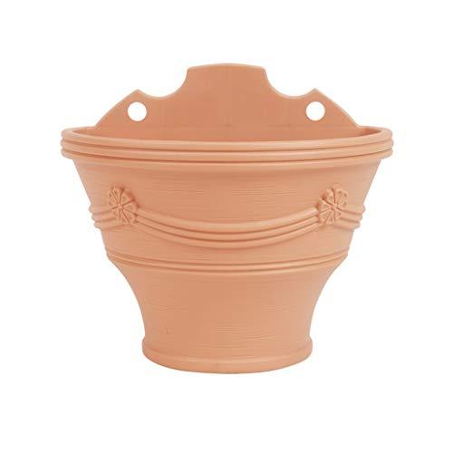 LHY- Bloempot Muur potten Imitatie aardewerk pot Plastic bloempot Niet giftig bescherming van het milieu Hangable tuinieren potten Duurzaam ruimtebesparend Prachtig (Color : B, Size : 1.8L)