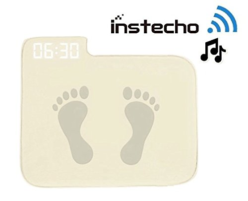 Alarm Clock for Heavy Sleepers,Instecho Rug Carpet Alarm Clock - Digital Display,Pressure Sensitive Alarm Clock with The Softest Touch for Modern Home, Kids, Teens, Girls and Guys (Cream)