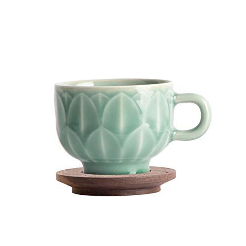 tazas para niños Copa de café de estilo chino de 6.7 oz Copa de cerámica de la taza de taza adecuada para la oficina y el hogar es un regalo de cumpleaños para la novia y la esposa taza de té