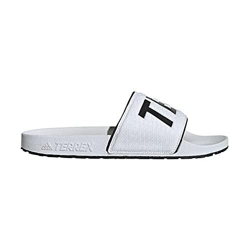 adidas Terrex Adilette, Scarpe da Ginnastica Uomo, Bianco Nero Bianco, 39 EU