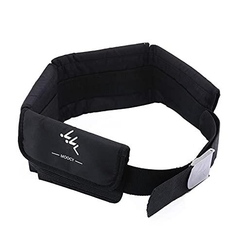 UXELY Scuba Weight Belt, Dive Weight Belt for Free Diving Neoprene Diving, Scuba Diving Weight Belt with Stainless Steel Buckle and Adjustable Webbing (Black)