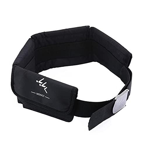 GeKLok Cinturón de peso de buceo, cinturón de buceo para buceo libre, neopreno buceo, cinturón de peso con hebilla de acero inoxidable y correas ajustables (negro)