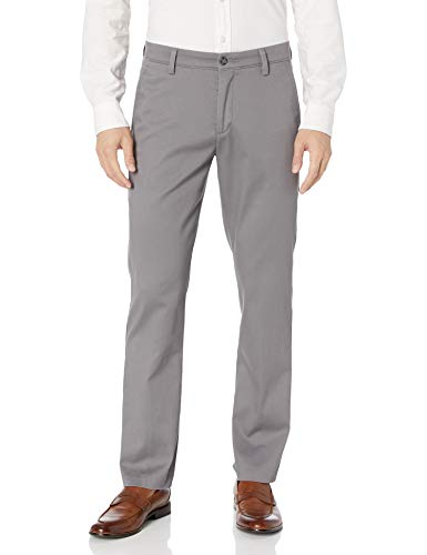 Dockers Men's Slim Fit Easy Khaki Pants, Burma Grey (Stretch), 32W x 30L