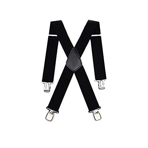 Hosenträger für Herren X förmige 5cm breit verstellbar und elastisch mit einem sehr starken Clips, Hosenträger X-Form lange für Männer und Damen Hose alle Farben