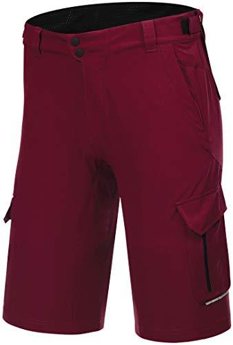 Protective P-Deer Dance 2021 - Pantaloncini da ciclismo da uomo, colore: rosso intenso, Rosso intenso, L