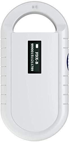 Handheld Tier Chip Reader tragbarer Mini-Chip-Handleser Haustier Mikrochip Scanner Tierchip Lesegerät Chipleser für ISO 11784/11785, FDX-B und ID64 RFID
