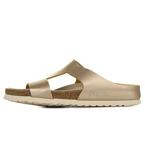 Papillio by Birkenstock Charlize, Sandales Bout Ouvert Femmes, Rose (Frosted Metallic Rose Frosted Metallic Rose), 37 EU