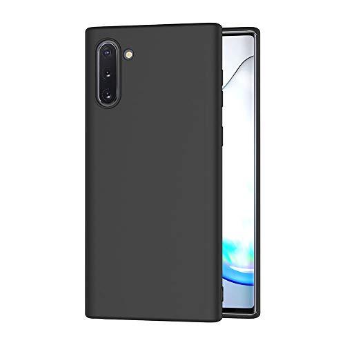 AICEK Hülle Compatible Samsung Galaxy Note 10, Schwarz Silikon Schutzhülle für Samsung Note 10 Hülle TPU Bumper Galaxy Note 10 Handyhülle (6,3 Zoll)