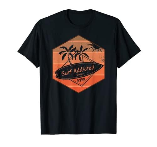 Vintage Surf Adicted Cita Surf Refranes Retro Surfing Camiseta