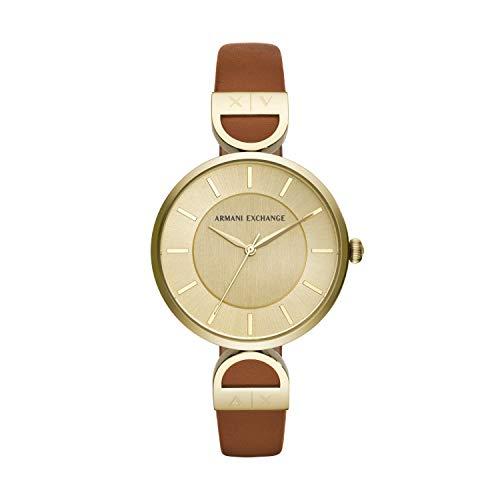Armani Exchange Reloj Analógico para Mujer de Cuarzo con Correa en Cuero AX5324