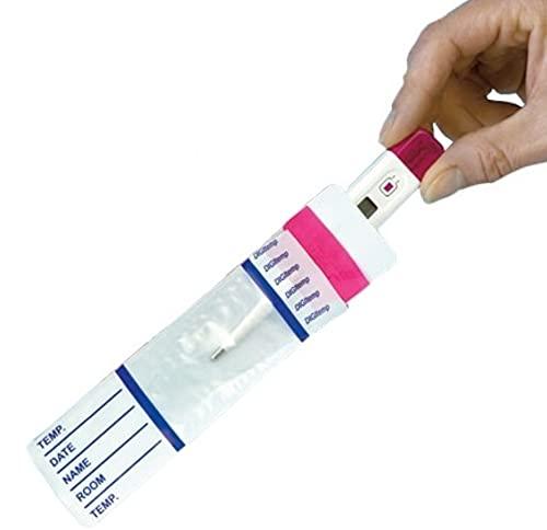 Thermometerhüllen 100 Stück ohne Gleitmittel - Besonders weiche Folie, griffgerechte Verpackung, großes Schriftfeld