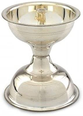 Nemichand Jewels Lightning Silver Diya For Pooja (Sterling Silver)
