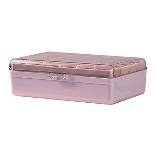 JIUYECAO Caja de almacenamiento multicelda de una sola capa, cajas de joyería transparentes para mujeres, pendientes, pulsera y soporte para collar con múltiples rejillas