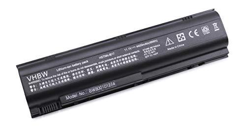 vhbw Batería Recargable Compatible con HP Compaq Pavilion DV1000, DV1700, DV4000, ZE2000, ZT4000 Notebook (4400 mAh, 10,8 V, Li-Ion)