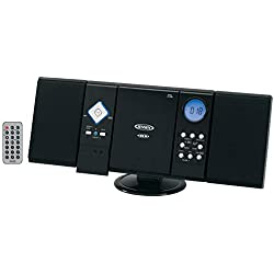 Jensen Wall Mountable Vertical Loading CD Player with Stereo Speakers JEN-JMC-180A