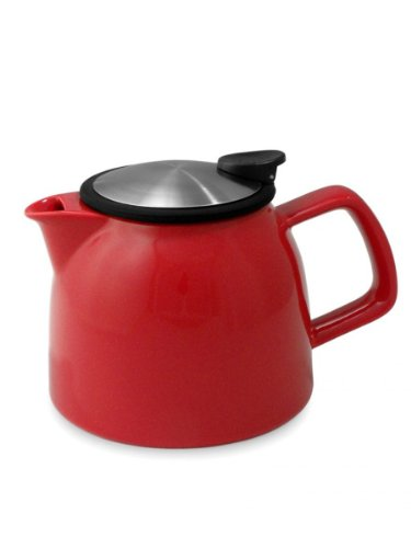 Forlife 26 oz/770 ml-Bell Théière avec infuseur en acier inoxydable Rouge 544–Rouge
