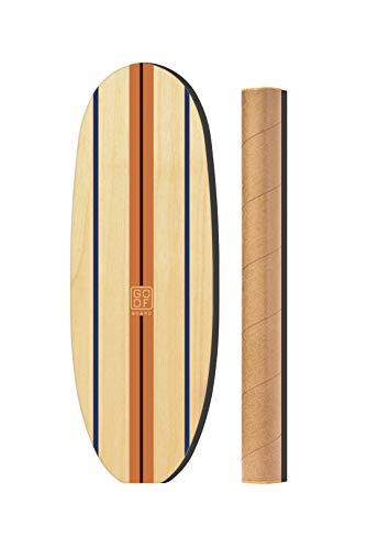 GoofBoard - Classic Log - Birch (Orange) Surfing Balance Board