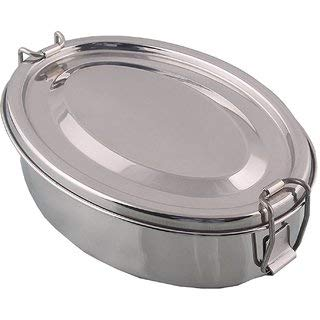 Stainless Steel Double Layer Lunch Box for kids - Eco friendly, Dishwasher safe, Plastic free (1600ml)