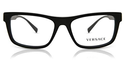 Versace VE-3277 GB1 - Gafas de sol (acetato, plástico), color negro brillante