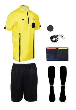 New! 2018 Pro Soccer Referee Package (7 Piece) (Yellow, Adult XXL)