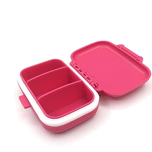 Portapillole 3 lettici Box della pillola Tablet Case Pill Case Dispenser Medicine Scatole di medicina Distributore Medico Kit Mini Organizzatore Cassa Caso Tipropile Splitter ( Color : RoseRed )