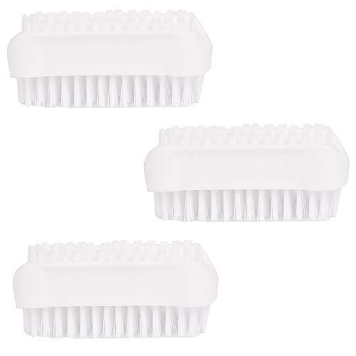 Preisvergleich Produktbild 3er Pack / Stück doppelseitige Bürsten in Weiß im Set Nagelbürsten / Handwaschbürste für Bad,  WC,  Waschbecken,  Werkstatt von PARSA