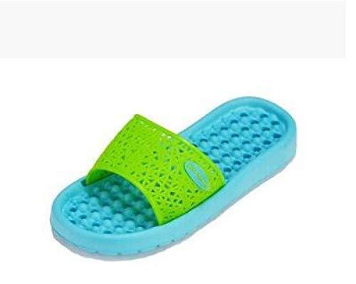 B/H Claquette Homme Sandales Mules,Pantoufles de Bain antidérapantes, Sandales de Massage à Domicile à Fond Mou-Lake Blue_43,De Douche Antidérapant Plage Chaussures
