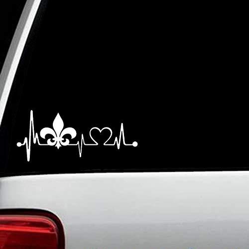 Le Fleur De Lis Heartbeat Lifeline Monitor Decal Sticker for Car Window K1027