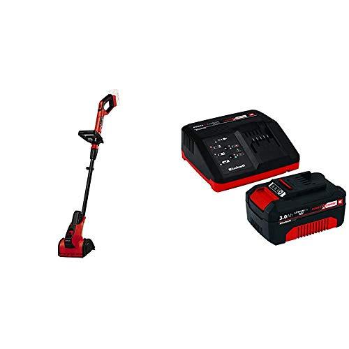 Einhell Cepillo para superficies con Batería PICOBELLA Power X-Change + Kit cargador con batería (18 V, 3.0 Ah, duración de carga de 60 minutos)