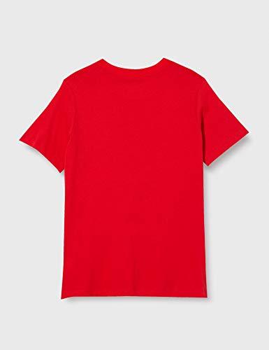Nike Boys' ATM B NK TEE EVERGREEN CREST T-Shirt, Sport red, M