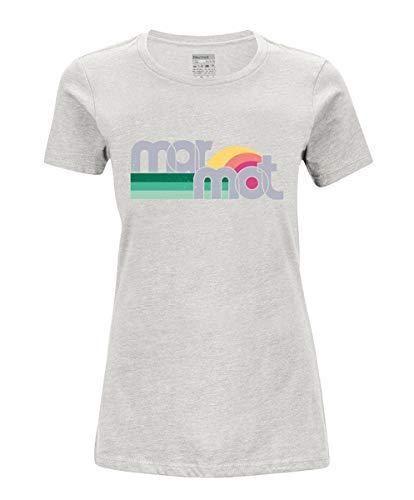 Marmot Wm's Oceanside Tee Short Sleeve T-Shirt Manche Courte, Chemise de randonnée, idéal pour Le Sport, la Gym, séchage Rapide, Respirant Femme, Turtledove Heather, FR (Taille Fabricant : XS)