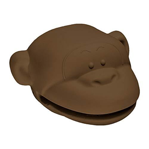 2PC Ofenhandschuhe Affenförmige Mini-Ofenhandschuhe Handschuhe Silikon Hitzebeständige Kochklemmhandschuhe Topflappen-Küchenhandschuhe-Brown