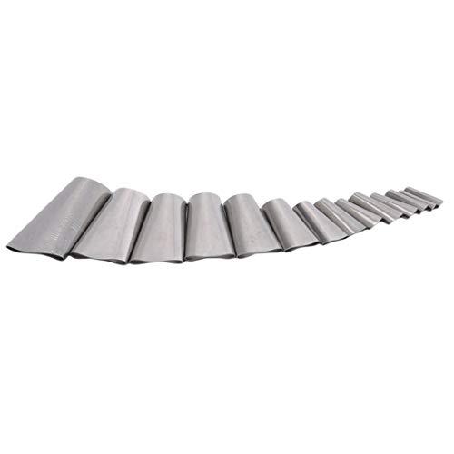 ZSDFW - Applicatore in acciaio inox, 14 pezzi per sigillare sigillante riutilizzabile, per cucina, bagno, finestra, accessori