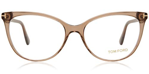 TOM FORD Eyeglasses FT5513 045 Shiny Light Brown