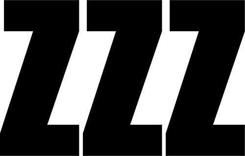 Akachafactory Sticker, zelfklevend, voor deur, auto, motorfiets, alfabet, doos met naambordje, zwart, Z, 3 stuks