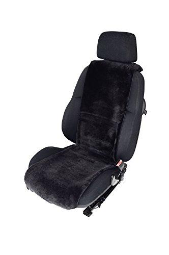 Leibersperger Felle Lammfell Sitzbezug Sitzschoner Autositzauflage Autositzbezug Merino Grau Premium 36 cm x 138 cm (Schiefer)