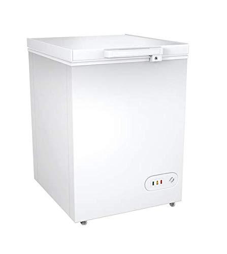 Gefriertruhe/A +/ 85 cm Höhe/100 L Gefrierteil/regelbarer Thermostat LED-Lampe am Deckel auf rollen
