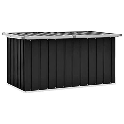 vidaXL Boîte de Rangement de Jardin Coffre de Stockage Boîte de Stockage Coffre de Rangement Extérieur Patio Terrasse Anthracite 129x67x65 cm