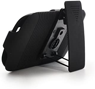 Aimo Wireless BB9370PCBEC001 Shell Holster Combo Protective Case for BlackBerry Curve 9370 with Kickstand Belt Clip and Holster - Retail Packaging - Black