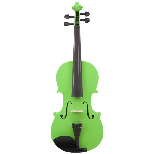 Le'Var VLNLV100NL 4/4 Student Violin Outfit, Neon Lime
