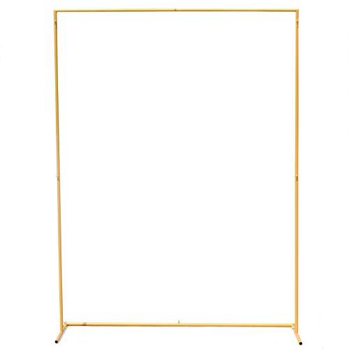 Hochzeit Bogen 2x1,5m Gold Rechteck Metallkranz Bogen Blumenregal Hintergrund Stand Hochzeitsfeier Dekorationen
